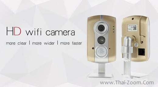 กล้อง IP CAMERA P2P high-end  Lens wide 1.27mm 170 degree